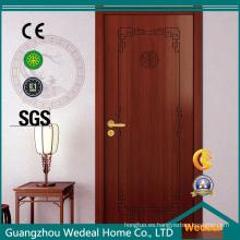Puerta de madera laminada PVC del panel americano texturizado / liso