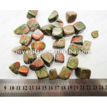Unakite tumbled stone,high polish