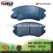 China pastillas de freno fábrica, piezas de automóviles (OE: 58101-1FE00 / FMSI: D924)