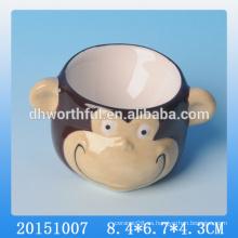 2016 Taza de huevo de cerámica del mono lindo de alta calidad