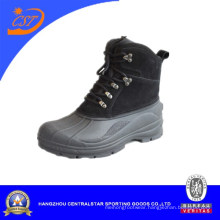 Fashion Split Leather Waterproof Snow Boots (XD-108B)