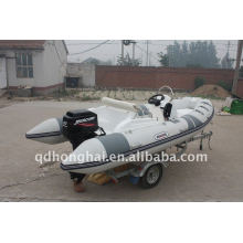 iate de luxo do CE rib430 branco esporte barco inflável