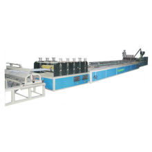 Twin - Wall Hollow Plastic Roofing Sheet Extrusion Line , Roofing Sheet Making Machine