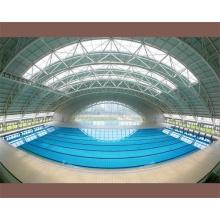 Prefab marco de acero del espacio para cubrir la cubierta de la piscina