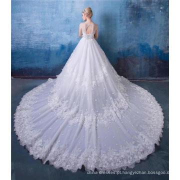 Fora do ombro vestido de noiva de luxo vestido de noiva HA599