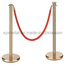 Exibição de exposição de aço inoxidável Barrier Rope Post