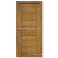 Natrual chapada puerta interior de madera al ras