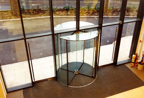All Glass Automatic Revolving Doors for Hotels