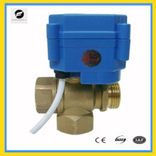 3 way motor control valve DC12v 15mm 20mm for electric control water treatment T flow