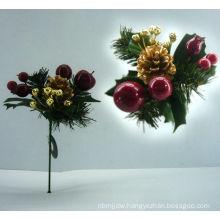 Artificial Decorative Ornaments Poinsettia Pick