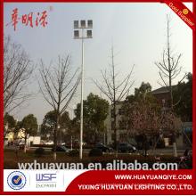 Über 10 Meter konische Stahlstadion Lichtmasten mit Armen
