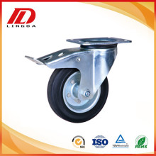 160mm industrial cater with rubber on iron wheels