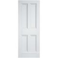 Interne Tür der weißen grundierten Rochester-viktorianischen Art mit dem Standardsicken