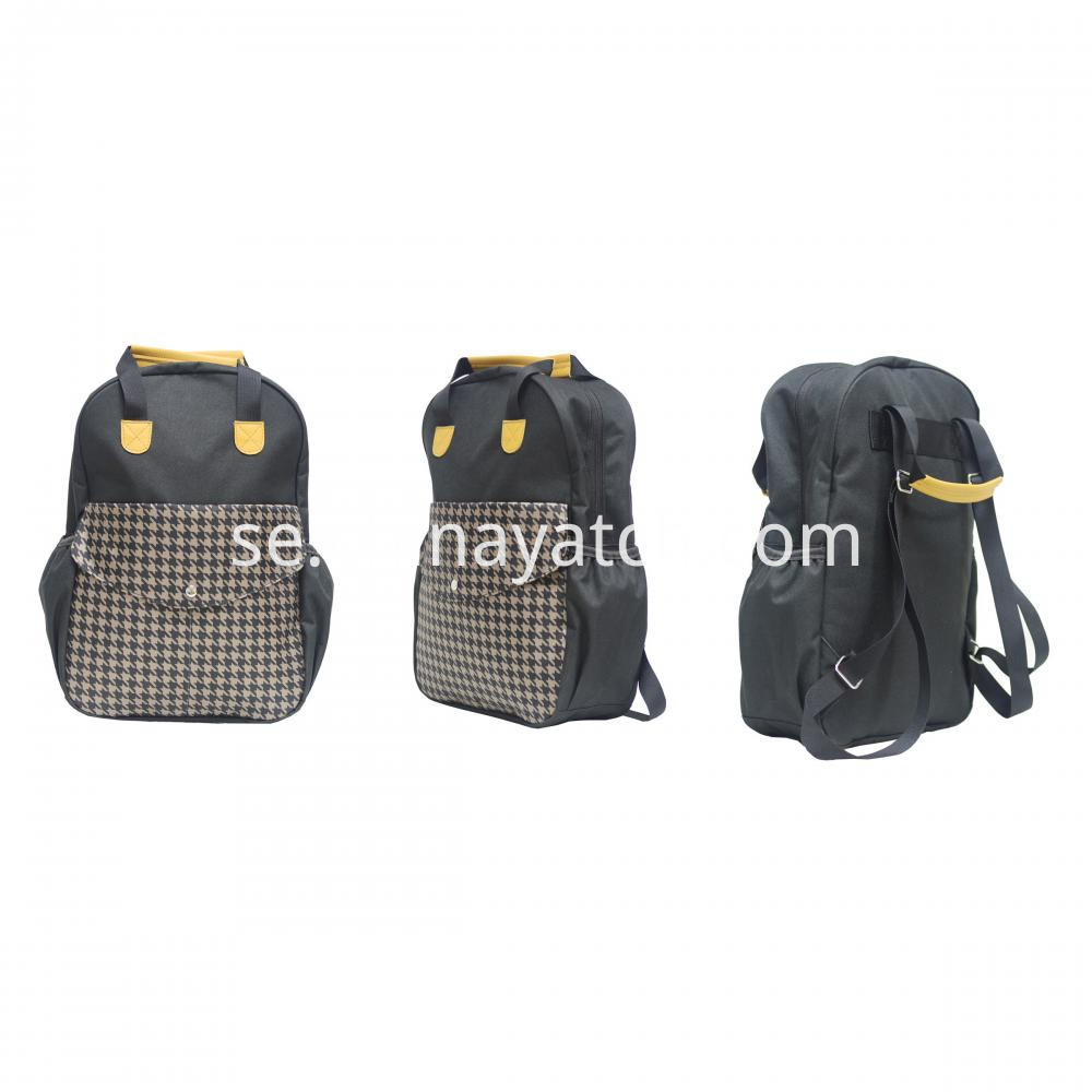 600d Sports Backpack With Leather Handle