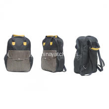 600D Sports Backpack com alça de couro