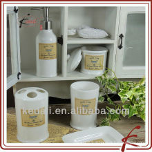 Moda acessórios de cerâmica banheiro