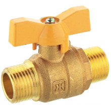 J2039 Brass Natural Gas Ball Valve, Male Thread, Butterfly Hand