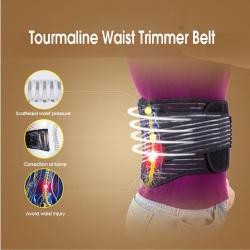 Adjustable tourmaline self-heating waist back magnetic belt
