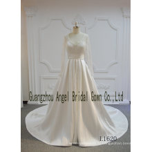 С длинным рукавом кружева атласная линии свадебные платья Элеган