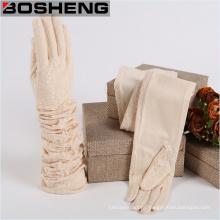 Модная леди, кружевная перчатка, зимние ткани сплетенные перчатки