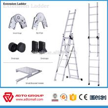 Escalera de extensión de 2 secciones, escaleras de extensión de aluminio, escaleras de extensión