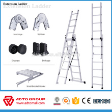 Échelle d'extension de 2 sections, échelles d'extension en aluminium, échelles d'extension