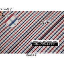 Rojo/Marina de guerra comprueba Chequer hilado teñido de tela de camiseta