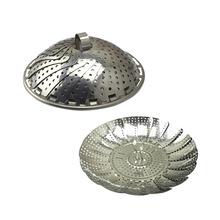 Vapor plegable plegable de la cesta del metal del acero inoxidable