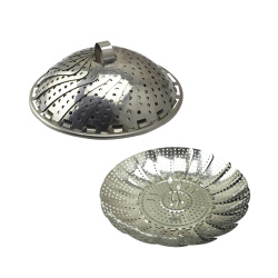 Stainless Steel metal Folding Collapsible Basket Steamer