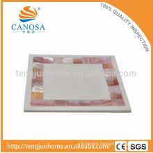 Canosa hotel room bath amenities pink shell mosaic pink decorative soap dishes