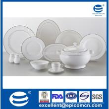 Vajilla real de prestigio superior de diseño de porcelana cena conjunto de China