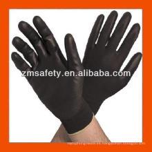 Buen precio Guantes recubiertos de Nylon negro PU negro