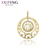 33747 Xuping muslim jewelry 14k gold plated Allah design pendant