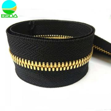 Real Gold Plating Stainless Steel continuous Zipper rolls