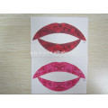 Adhesive Tattoos for Skin, Lip Tattoo Sticker for Maquiagem