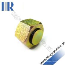 Connecteur de tube de prise femelle métrique en acier au carbone de haute qualité (9C)