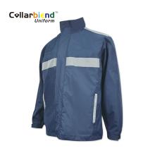 Jaqueta reflexiva personalizada azul marinho