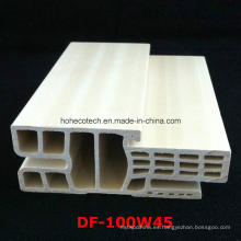 Df-100W45 Fuerte y popular E WPC marco de puerta WPC Puerta Architrave PVC espumado puerta Jamb Df-100W45