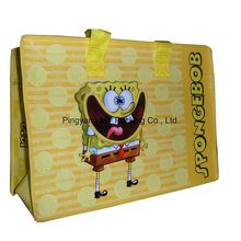 Advertisement Luggage Packing BOPP Laminated PP Nonwoven Shopping Zipper Bag