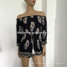 2017 verão senhoras impresso flor off-ombro sexy curto roupas femininas dress