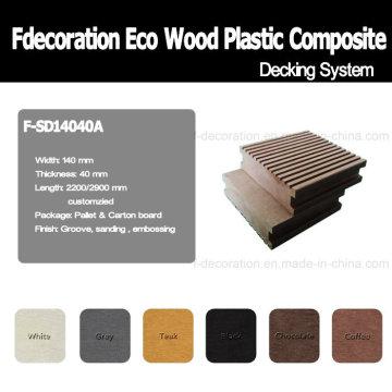 Composite en plastique en bois de plancher extérieur d'Eco