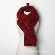 Mulheres inverno quente grosso cachecol de cachecol de malha de longo cachecol merlange (sk145)
