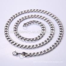 Vente en gros de bijoux à chaîne en acier inoxydable