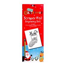 Novedad grabado arte Navidad suministros rayar pintura