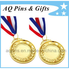 Custom Gold Medal with 3c Ribbon