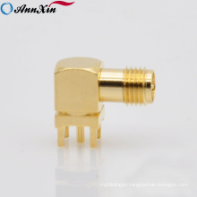 cheap SMA female right angle connector for pcb mount