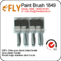 black bristle with grey plastic paint brushes set