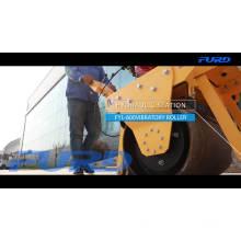 Ручной каток гидравлический однобарабанный вибрационный дорожный каток автоматический уплотнитель почвы машина FYL-600C