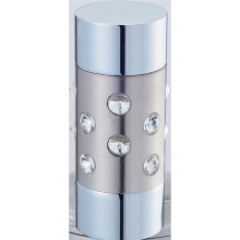 Cylinder with Crystal Curtain Rod Finial