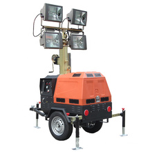 SWT Factory 7 meters Hydraulic Telescopic Mast Industrial Portable Lighting Tower with 1000Wx4 Metal Halide Light Price